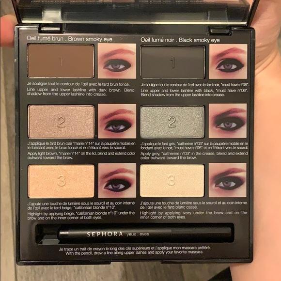 New Sephora Pro Lesson Smoky black eye palette